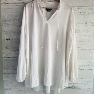 White oversized blouse